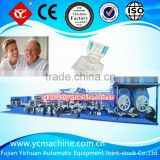 Soft plastci pants adult diaper machine with servo motor