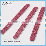 Nail Manicure Pink Leopard Style Cheap Promotional Nail Files 100/180