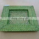 Cheap charger plates bamboo& rattan restaurant charager plates