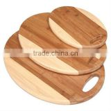 Round shape bamboo kitchen cutting board set
