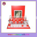 Fancy Red Wrist Watch Display Showcase /Watch Bracelet Display Stand Custom Design