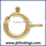 1/20 14K Gold Filled Jewelry Findings 6.0mm Spring Ring Light w/Closed Ring GP