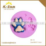 K-sun Dog paw silicone baking mold fondant decorating tool