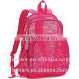 Rose mesh dome backpack for children, polyester