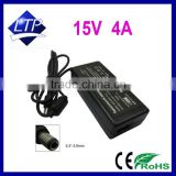 Laptop AC Adapter 15V 4A 60w notebook charger For Toshiba Satellite M35 M40 P205 Power supply