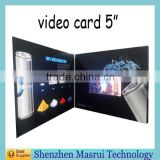 "Custom 2.4""2.8""3.5.""4.3""5""7""LCD Screen Video greeting Card/ Digital Business Cards for Festival,Birthday,Wedding"
