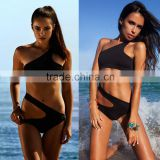 New Sexy Women&Lady's One-Piece Swimwear Bandage Monokini Swimsuit Bikini Black