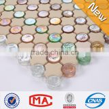 ZTCLJ JY-G-94 Decorative Ceramic Mosaic Mix Iridescent Glass Mosaic Multi Colors Ceramic Floor Tile