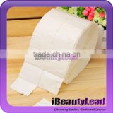 cotton fiber lint free nail wipes with 500pcs per roll