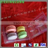 4 pcs macarons clamshell tray plastic packaging display wholeselling blister plastic tray