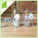 DIKINA*** Bulk Lot clear glass bottle charms 55x10mm with cork stopper, wholesale mini empty cosmetic glass bottle