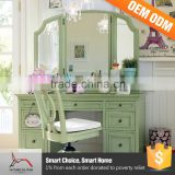 Very Cheap Furniture Mirrored Glass Foldable Dresser Particle Board Dressing Table In Venetian