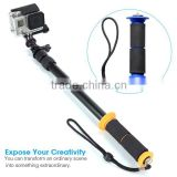 GoPros Transparent Floating Extendable monopod Go Pro Action Camera Pole Clear selfie stick