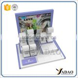jewellery display black white acrylic stand for choice with fancy color jewelry display