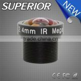 Super wide angle m12 1/3 inch 2.4mm automotive cctv board lens for car reversing camera system