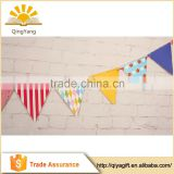 Best selling various colors of party string triangle banner party supplies