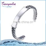 New products 2016 316 l stainless steel bracelets silver jewelry