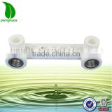 INquiry about PPR pipe female thread brass insert double tee fittings