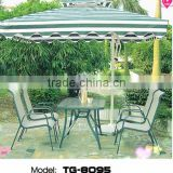 Poly Rattan Garden Furniture Umbrella And Table Set