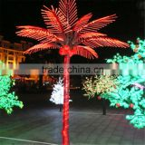 pink artificial LED lights palm tree led light show tree and flowers artificial purple palm tree