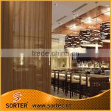 Sorter's screen room divider aluminum woven wire mesh