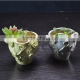 factory ceramic handmade flower pot for garden plant decoration