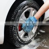 Chenille velvet sponge cleaning gloves plush Paws of coral polyps increase the thicken tool for car wash paint does not hurt