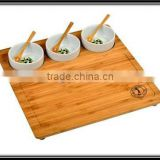 OEM bamboo rectangle dinner tray for breakfast