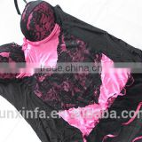 Black big hip girl arab women sexy lingerie / layer skirt sexy lingerie