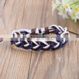 Handmade Wristband Vintage Braided Wrap PU Leather Bracelets Women