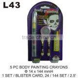 L43 5 PC BODY PAINTING CRAYONS