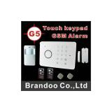 G5 touch keypad GSM alarm,Access control
