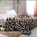 Printing with tiger fur throw Printed Coral Blanket Sofa Throws polyester blanket sofa throw