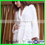 100 cotton stripe terry velour bathrobe