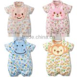 summer cute design cartoon animal baby romper