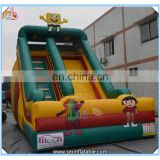 Hot selling inflatable cartoon toy slide,sponge bob inflatable double slide,inflatable playground bounce slide