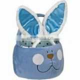 New Easter day rabbit basket plush toy for children candy toy