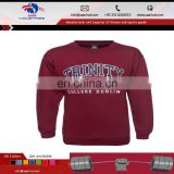 fashion cotton fleece sweatshirt t-shirt in high quality no hood sweat shirt