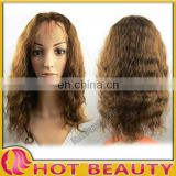 "Hot Beauty 12""to32"" Remy Indian Human Hair Front Lace Wigs For Black Women"