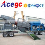 Hot sell mobile trommel centrifugal concentrator mining / gold mining equipment