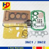3KC1 Full gasket kit 3KC2 Cylinder Head Gasket For Isuzu Engine