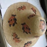 Raffia Straw with Printing Hatted Tyre