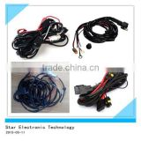 Latest auto hid light relay socket with switch for auto car headlight wire cable harness assembly