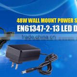 Shenzhen LYD wholesale 48W Wall Mount Power Supply EN61347-2-13 LED DRIVER UL CLASS 2 POWER SUPPLY