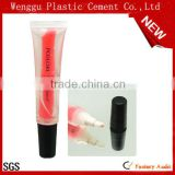 19mm Popular empty lip balm container for cosmetics cosmetic plastic soft tube dual cosmietics tube with screw cap