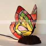 tiffany table lamp stained glass red butterfly night light LED decoration light
