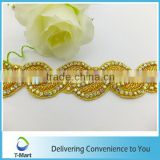 gold color wholesale iron on rhinestone applique