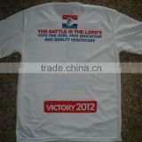 Bulk cheap election t shirt, white t-shirt for promotion custom election advertising campaign t-shirts