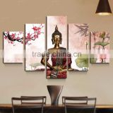 Pink Skilled Artist Hand-painted High Quality Buddha Oil Painting On Canvas India Buddhism Oil Painting For Wall Decor