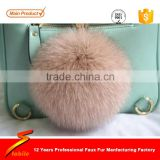 STABILE Ear Flap Cap real fur pom poms chains for handbags